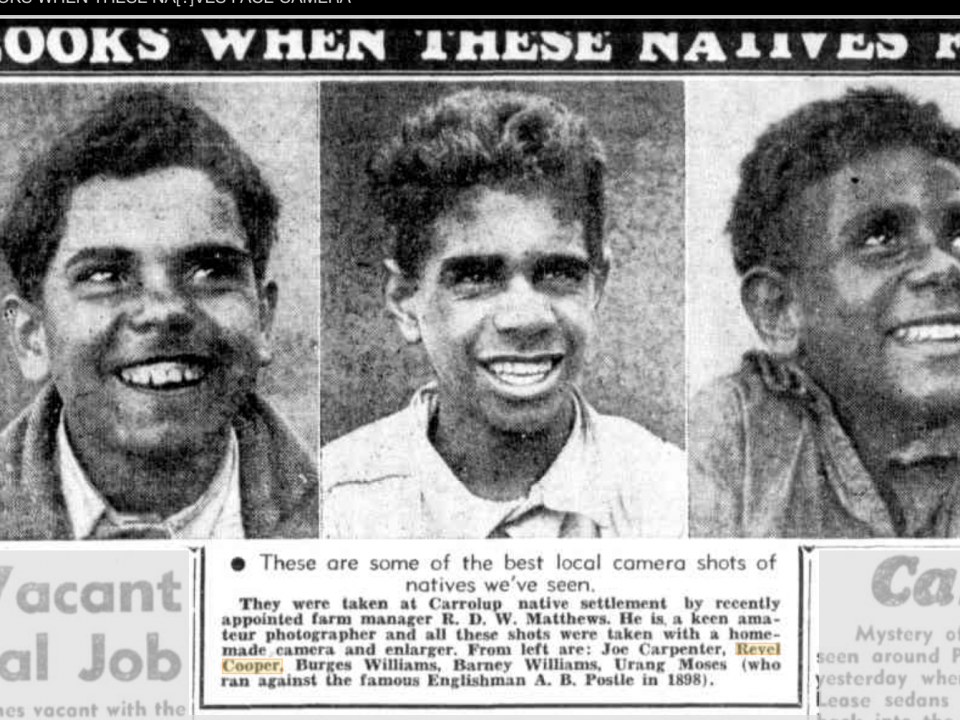 Photographs of three of the Carrolup boys. Sunday Times , 7th July 1945. Retrieved from Trove, National Library of Australia.
