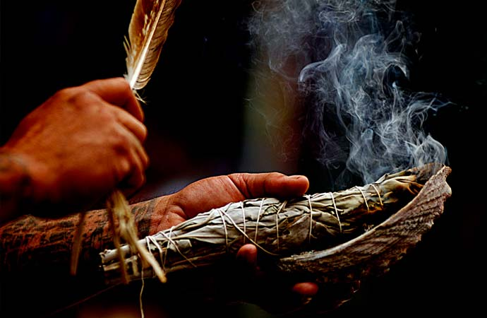 Smudging is incorporated into some Aboriginal cultures' healing practices as a method for cleansing and purifying. Northern Journal, Canada.