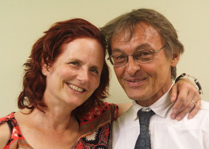 Dr Lewis Mehl- Madrona with Barbara Mainguy of the Coyote Institute for Studies of Change and Transformation.