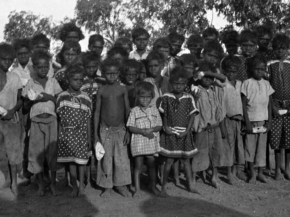 Aboriginal children of Carrolup in the early 1940s. J. S. Battye Library of West Australian History.