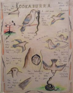 Page from a book the Carrolup boys made for school inspector Charlie Cook, 1950. Noel & Lily White Collection.