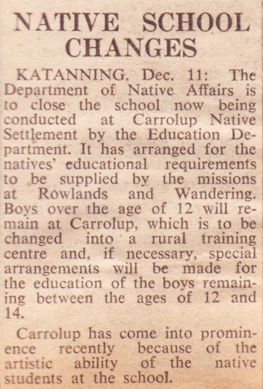 The West Australian , 12th December 1950. Noel & Lily White Collection.