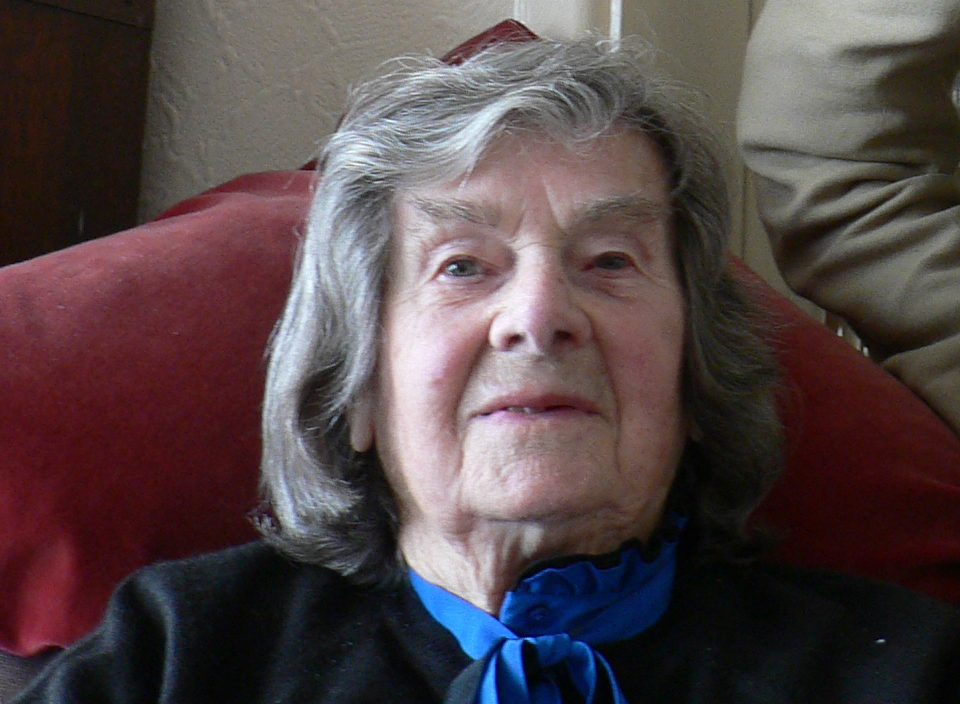 Doris Flatt, one of Florence Rutter's daughters, during her interview with John Stanton at her home in Williton, Somerset, UK, in 2006.