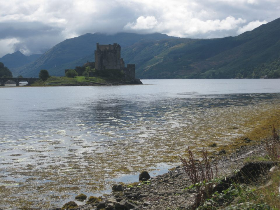 Eilean Donan Castle at the entrance of Loch Duich in Scotland.