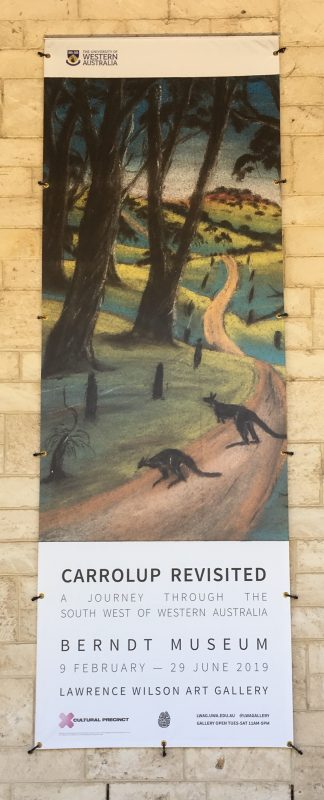 Museum banner advertising the exhibition. Photographer: John Stanton, 12th February 2019.